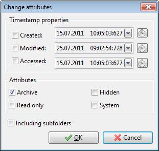 Change attributes