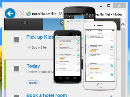 Access sticky notes from your phone