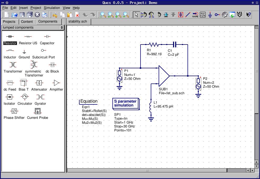 Qucs 0 0 19   Science Software   FileEagle com