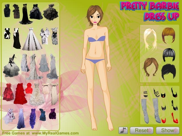 Pretty Barbie Dress Up Girls Games