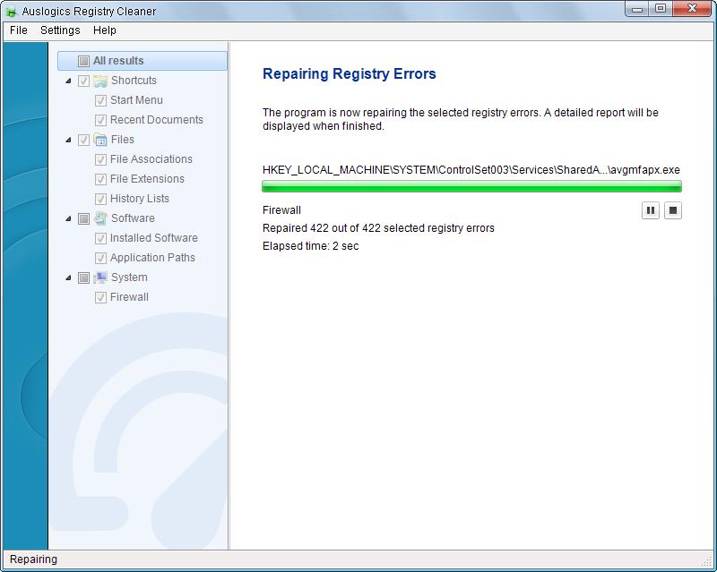 Auslogics Registry Cleaner 8 0 0 1 | System Utilities