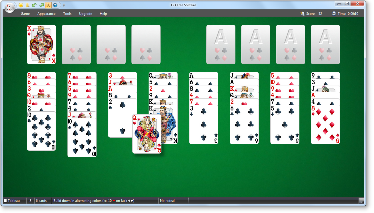 123 Free Solitaire 10.3  Cards & Lottery  FileEagle.com