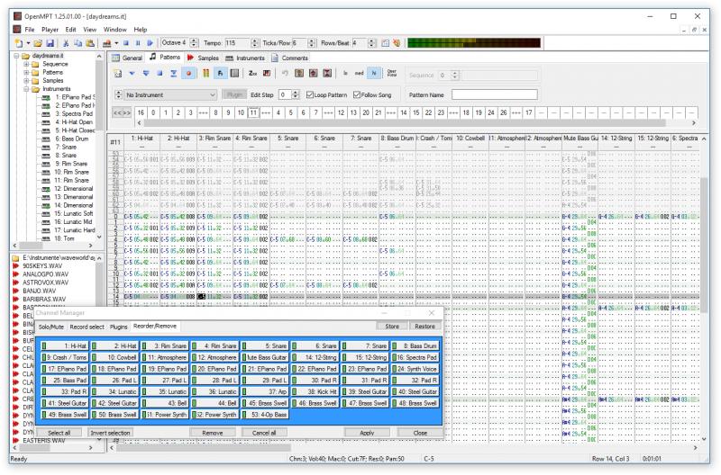Pattern editor in IT edit mode
