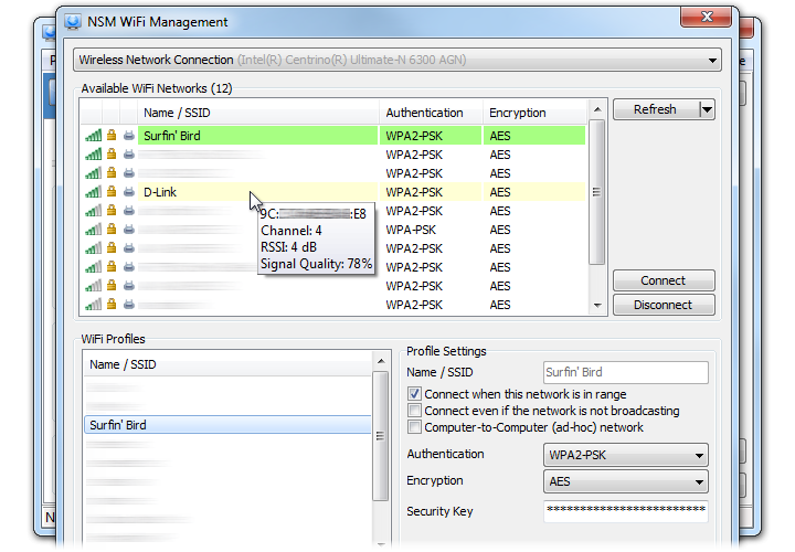 WiFi/WLAN Management