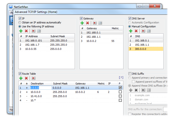 Advanced TCP/IP Settings