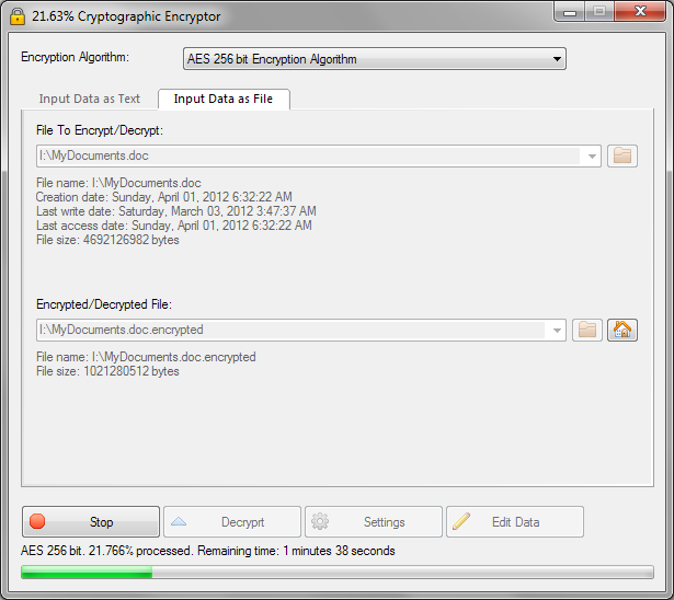 VSEncryptor 2 7 3 | Encryption Software | FileEagle com