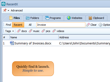 Effortlessly launch any file or folder