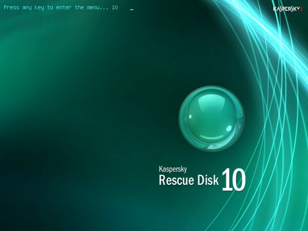 Boot from Kaspersky Rescue Disk