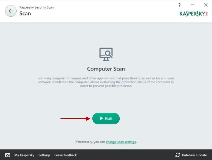 Kaspersky free scan