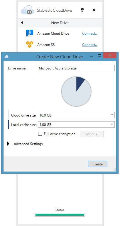 Create A New Cloud Drive