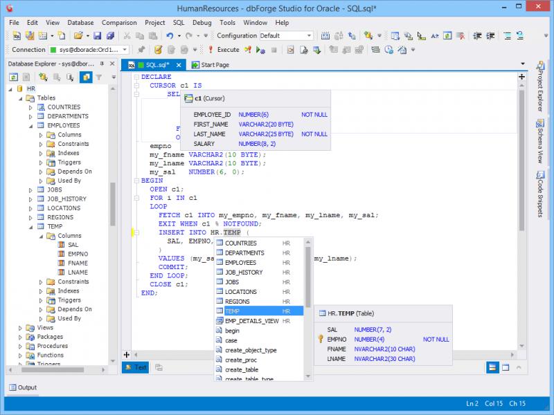 PL/SQL coding assistant