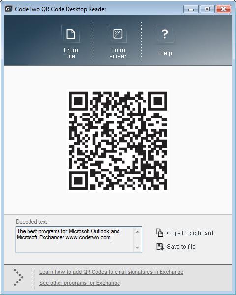 CodeTwo QR Code Desktop Reader 1.0.3  Other  FileEagle.com