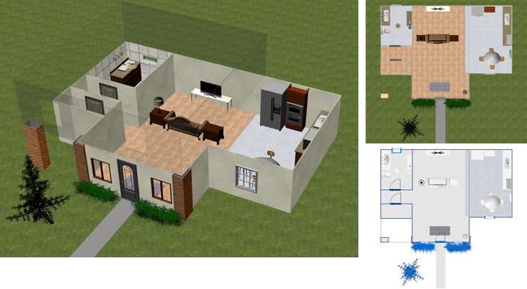 View Model in 3D, 2D, or Blueprint Mode