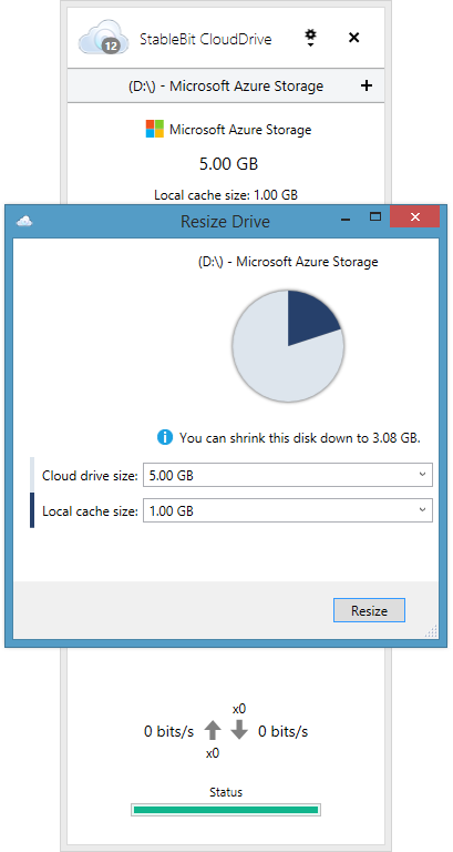 Resize A Cloud Drive