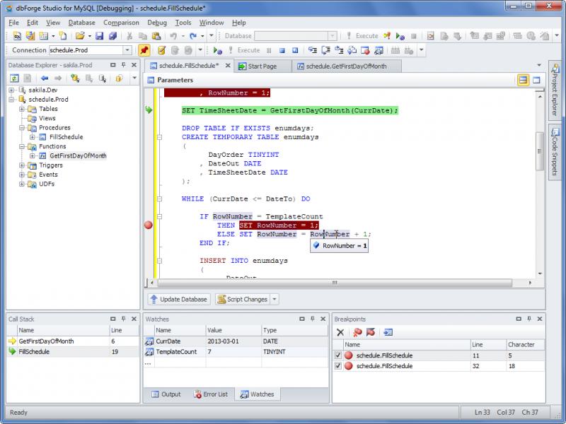MySQL Debugger