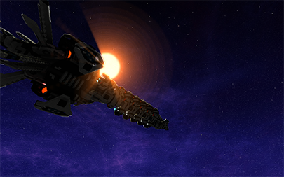 A player created ship.
