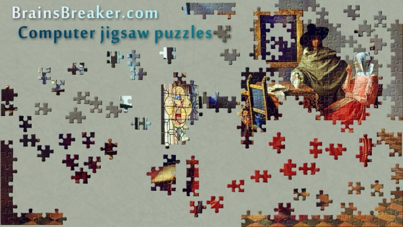 A jigsaw puzzle from a Vermeer's painting.