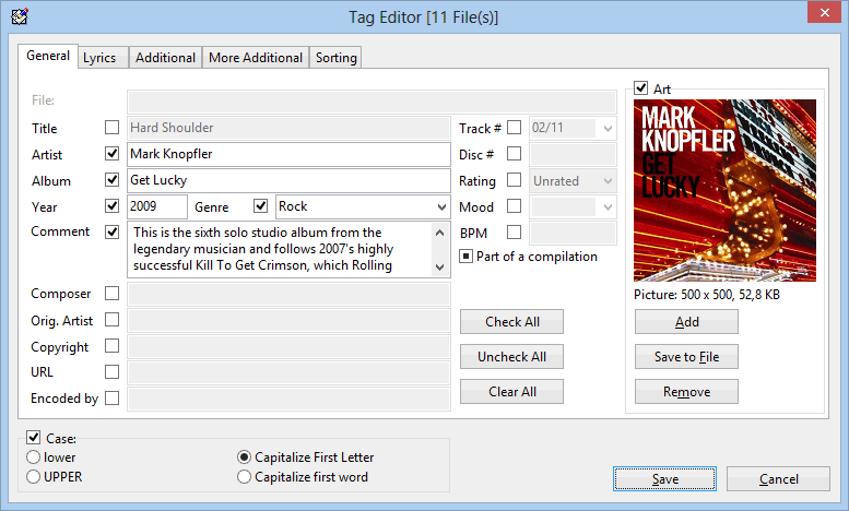 Multi files tag editor