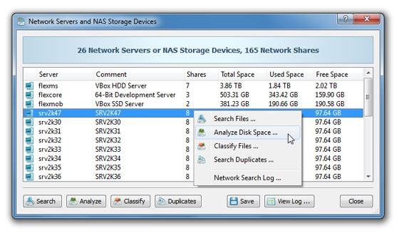 Analyzing Network Servers and NAS Devices
