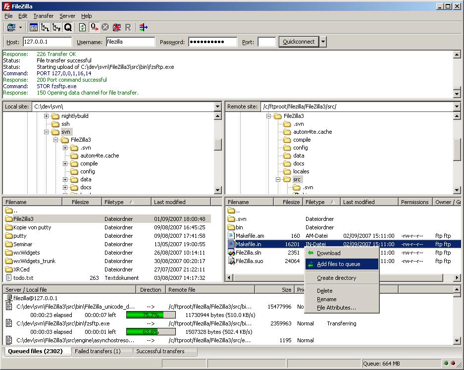 FileZilla Server 0.9.60.2 | FTP Server Software ...