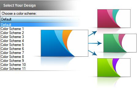 Change the template color scheme