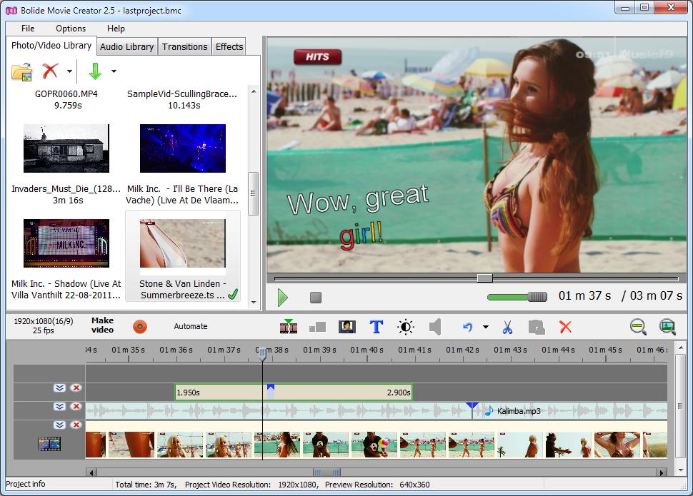 bolide movie creator 31 video editing software