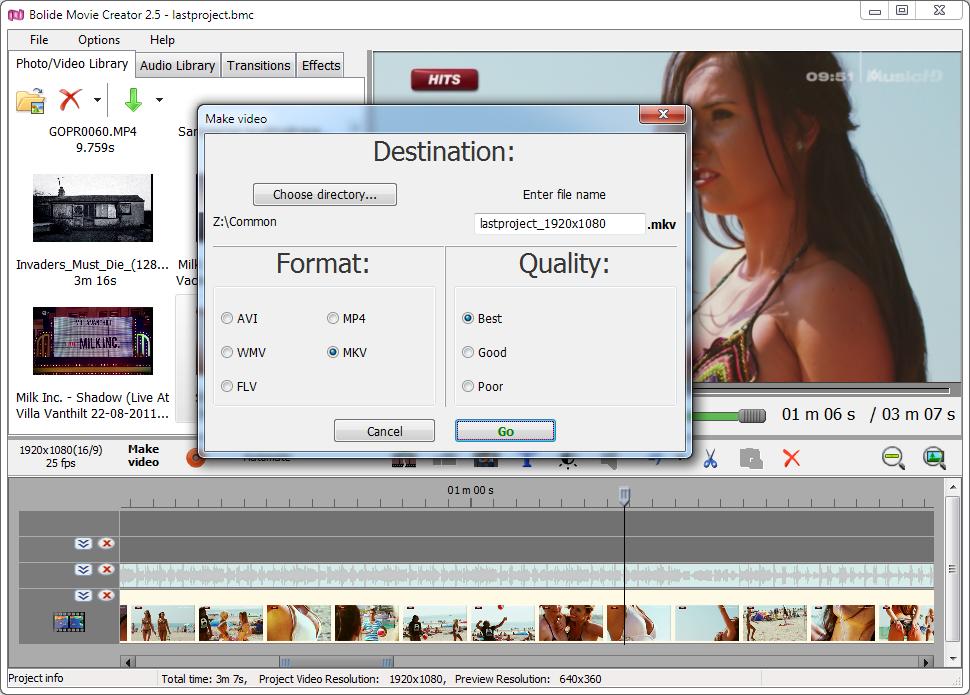 bolide movie creator 30 video editing software