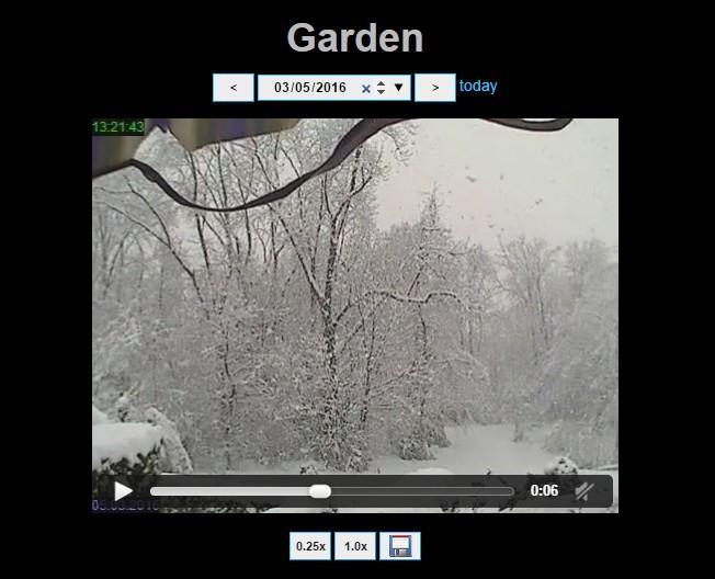 Snapshot History of Garden Camera