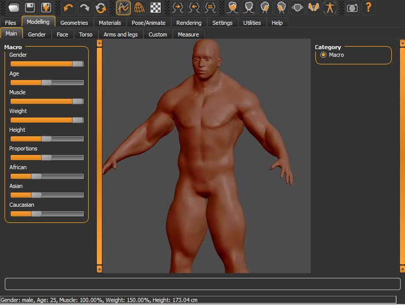 MakeHuman 1 2 0 | 3D Modeling Software | FileEagle com