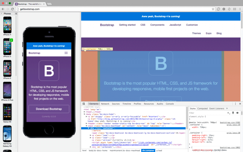 Blisk with DevTools