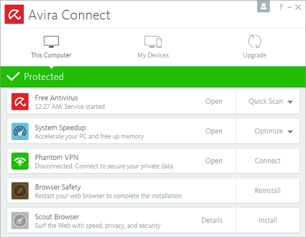 Avira Free Security Suite 2017 Internet Security