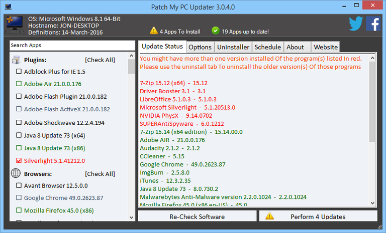 Patch My PC Updater 4 1 0 3 | Operating Systems & Updates