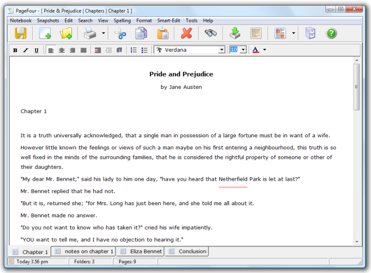 Tabbed Word Processor - With formatting, spell checker, etc.