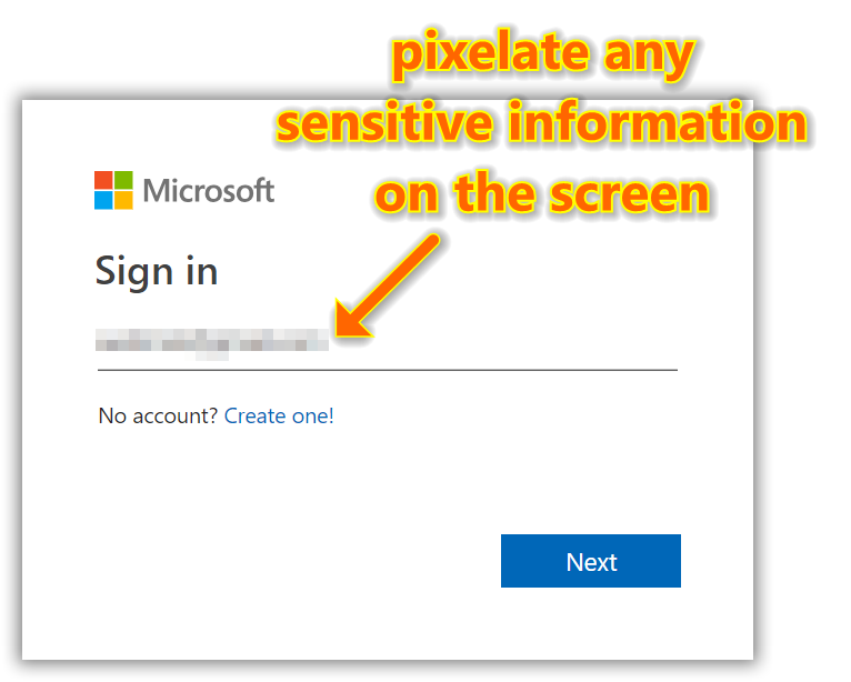 Pixelate tool can be used to quickly remove sensitive information from screenshots