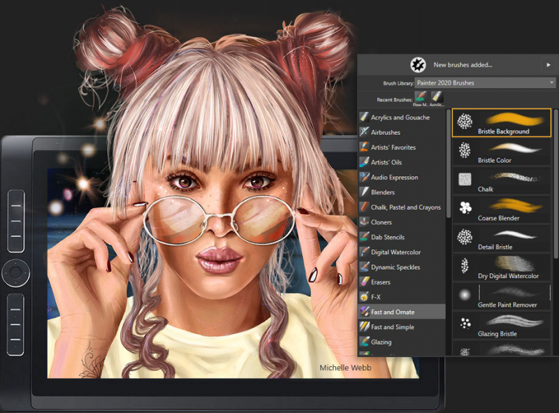 Vast amounts of brushes and customization capabilities