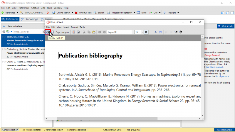 Creating a Simple Project Bibliography