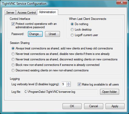 TightVNC Server